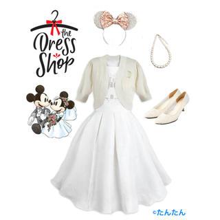 ディズニー(Disney)のファンタジーランド キャッスルホワイトドレス ドレスショップ S(ミディアムドレス)
