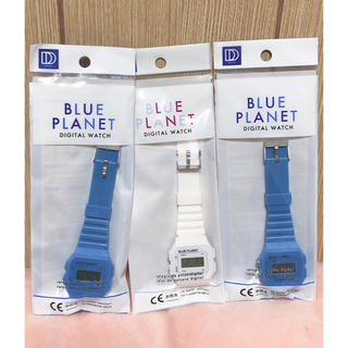 BLUE PLANET 腕時計 3個セット❗️ DAISO(腕時計(デジタル))