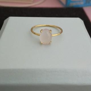 ローズクォーツ ☆天然石☆ オーバルカット ゴールドリング(リング(指輪))