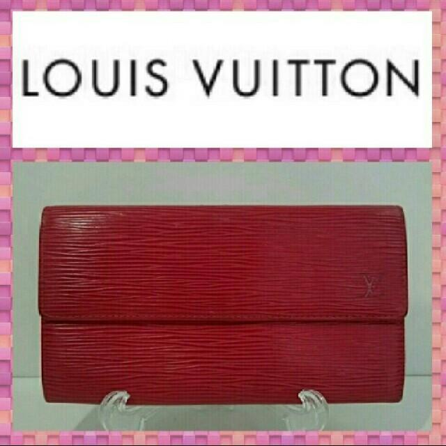 LOUIS VUITTON - ルイヴィトン 長財布 M6374E エピ 赤色の通販 by なかの屋|ルイヴィトンならラクマ