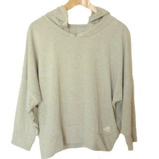 アディダス(adidas)の新品◆(OT)アディダス  グレーヘザーフィットネスパーカー(Tシャツ(長袖/七分))