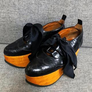ヴィヴィアンウエストウッド(Vivienne Westwood)のレア Vivienne Westwood ロッキンホース ギリー クロコ UK5(ローファー/革靴)