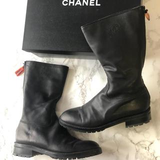 シャネル(CHANEL)のCHANEL ブーツ ブラック ココマーク(ブーツ)