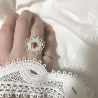 即席いちごみるく リング 指輪 ハンドメイド ヴィンテージ アンティーク レトロ(リング(指輪))