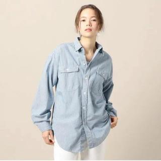 アメリカーナ(AMERICANA)の新品☆Americana ボーイズシルエットのワークシャツ(Tシャツ(長袖/七分))
