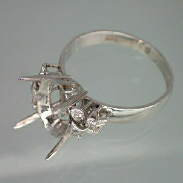 K14WG ダイヤモンド入りキャスト レディースのアクセサリー(リング(指輪))の商品写真