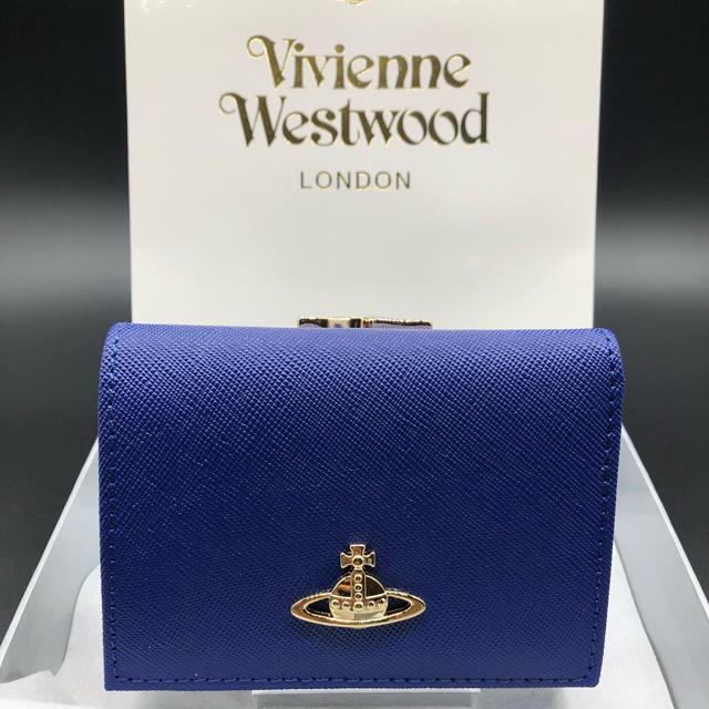 Vivienne Westwood - 【新品・正規品】ヴィヴィアンウエストウッド 折り財布 がま口 106 青の通販 by NY's shop|ヴィヴィアンウエストウッドならラクマ