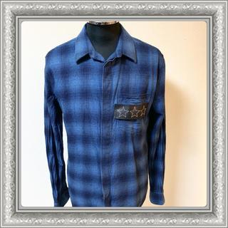 ジバンシィ(GIVENCHY)のGIVENCHY ジバンシー チェックシャツ レザー スター 16AW 40(シャツ)