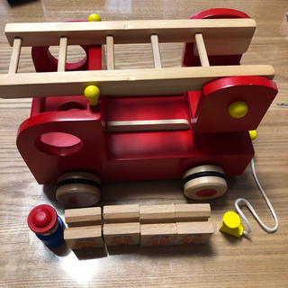 ボーネルンド(BorneLund)の木のおもちゃ 消防車 エドインター 森の消防隊(電車のおもちゃ/車)