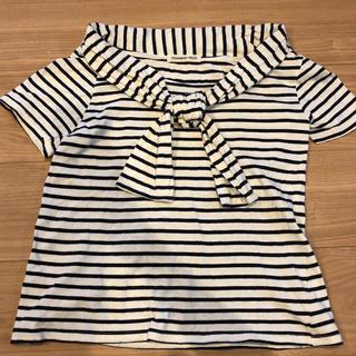ストロベリーフィールズ(STRAWBERRY-FIELDS)のボートネックシャツ(Tシャツ(半袖/袖なし))