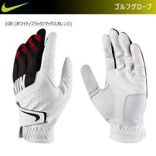 NIKE - 24cm【新品】ナイキゴルフグローブ NIKE Golf手袋 ホワイト×オレンジ