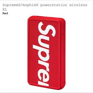 シュプリーム(Supreme)のSupreme シュプリーム モバイルバッテリー 19SS 赤 Red スマホ(バッテリー/充電器)