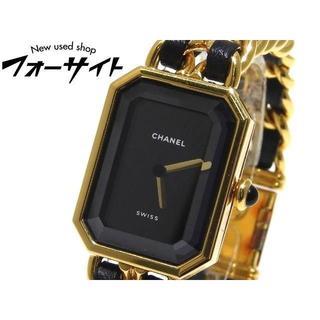 シャネル(CHANEL)の シャネル☆H0001 プルミエール Mサイズ ゴールドGP×ブラック 時計(腕時計)