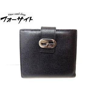 グッチ(Gucci)のグッチ■035.0416.2106 ブラック レザー Wホック 2つ折り 財布(財布)
