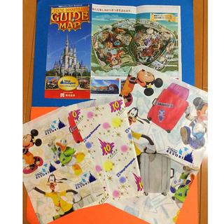 ディズニー(Disney)のコレクション用/東京ディズニーランドガイドマップとショップ袋(ポスター)