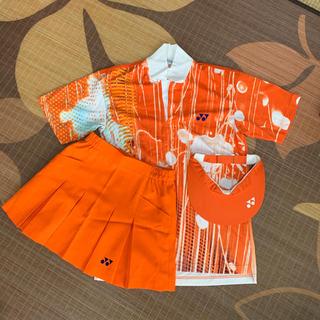 ヨネックス(YONEX)のYONEX テニスウェアー 3点セット オレンジ(ウェア)