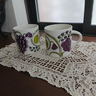 アラビア(ARABIA)のアラビア パラティッシ パープル マグカップ (グラス/カップ)