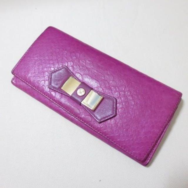 H840 フィオレッリ ショッキングピンク 押し型 レザー 長財布の通販 by パオ's SHOP|ラクマ