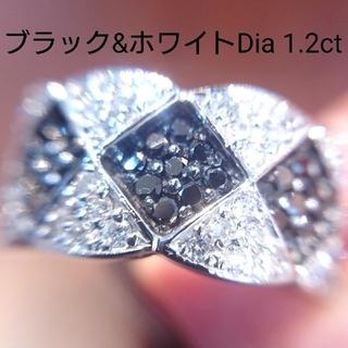 11グラム✨プラチナ ブラックダイヤ ダイヤモンド リング 1カラット越 14号(リング(指輪))