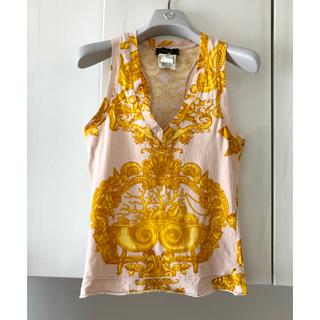 ヴェルサーチ(VERSACE)のベルサーチ カットソー タンクトップ ノースリーブ キャミソール ヴィンテージ(Tシャツ(半袖/袖なし))