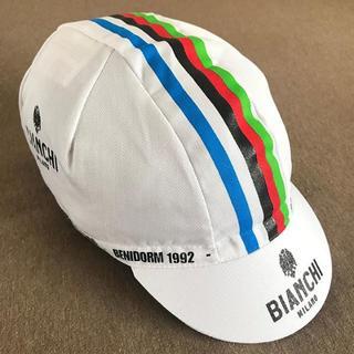 ビアンキ(Bianchi)のBianchi ホワイト キャップ(ウエア)