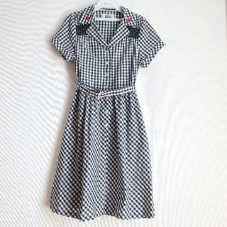 ケイティー(Katie)のKatie cherry シャツワンピース ギンガム ドレス(ひざ丈ワンピース)