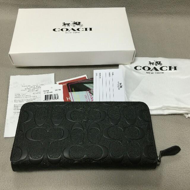 COACH - COACH シグネチャー アコーディオンジップ  長財布  74918  の通販 by つる's shop|コーチならラクマ