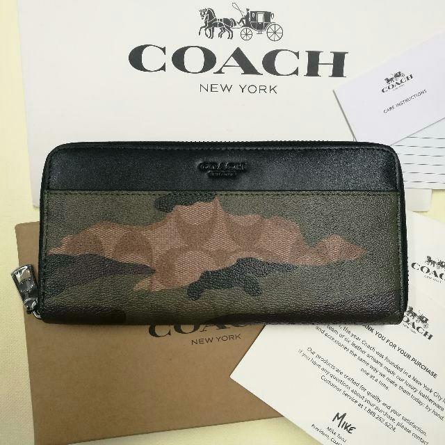 COACH - 新品 COACH コーチ メンズ 長財布 F87189 カモフラージュブラック の通販 by つる's shop|コーチならラクマ