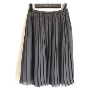 ドゥロワー(Drawer)のDrawer ドゥロワー*シルクプリーツスカート 36 グレーシフォン(ひざ丈スカート)