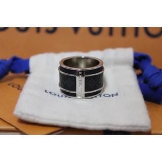 ルイヴィトン(LOUIS VUITTON)のルイ ヴィトン バーグ モノグラム エクリプス リング 指輪 M68205 本物(リング(指輪))
