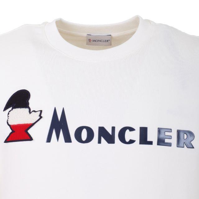 MONCLER(モンクレール)の【8】MONCLER19ss オフホワイト トレーナー/M メンズのトップス(スウェット)の商品写真