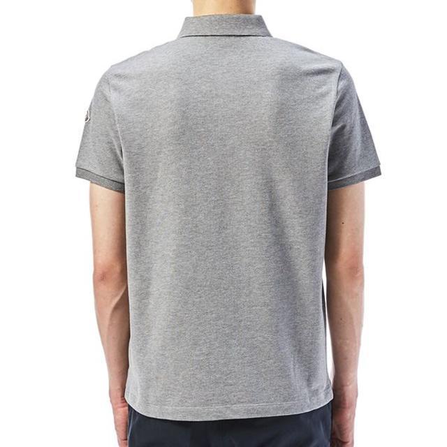 MONCLER(モンクレール)の【31】MONCLER19ss グレー 襟裏ロゴ 半袖 ポロシャツXL メンズのトップス(ポロシャツ)の商品写真