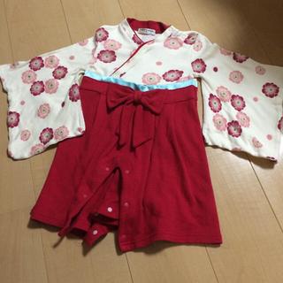 ベルメゾン(ベルメゾン)の袴ロンパース 女の子 90(和服/着物)