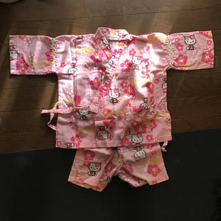 ハローキティ(ハローキティ)のハローキティ甚平  ピンク100~(甚平/浴衣)