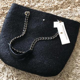 ヘレンカミンスキー(HELEN KAMINSKI)の新品 ヘレンカミンスキー   ラフィア チェーントートバッグ(かごバッグ/ストローバッグ)