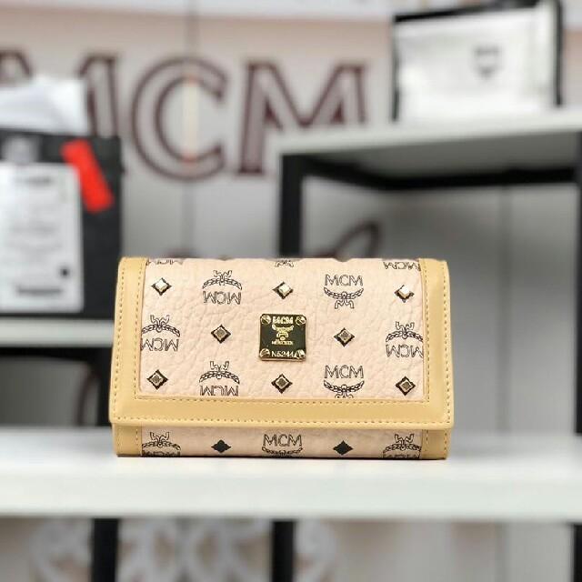 MCM - mcm 新作 財布ベージュの通販 by 格好がいい's shop|エムシーエムならラクマ