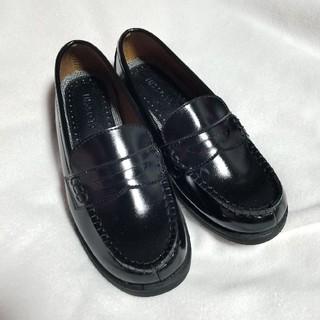 シマムラ(しまむら)の新品未使用 学生 ローファー 黒 23.5cm(ローファー/革靴)
