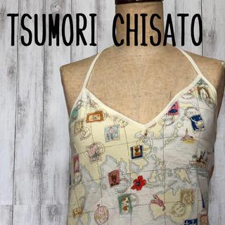 ツモリチサト(TSUMORI CHISATO)のTSUMORI CHISATO bit キャミワンピ 地図柄(ミニワンピース)