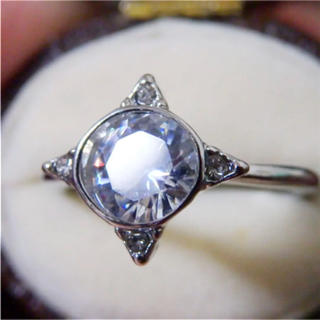 訳ありシルバーカラーストーンリング指輪大きいサイズ(リング(指輪))