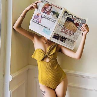 ミラオーウェン(Mila Owen)の黄色 リボン 水着(水着)