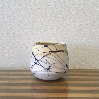 ●Trapezoid POT  -SPLASH Blue-  No.43(日用品/生活雑貨)