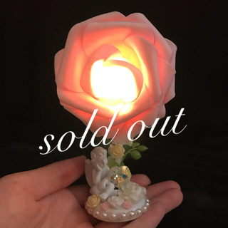 薔薇 バラ 天使 LED ミニスタンドライト ミニライト ミニランプ 間接照明(その他)