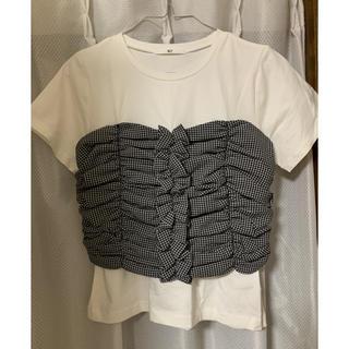 スライ(SLY)のFRONT GATHER BUSTIE T/SH(Tシャツ/カットソー(半袖/袖なし))