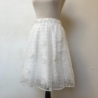 リズリサ(LIZ LISA)のオーガンジースカート(ひざ丈スカート)