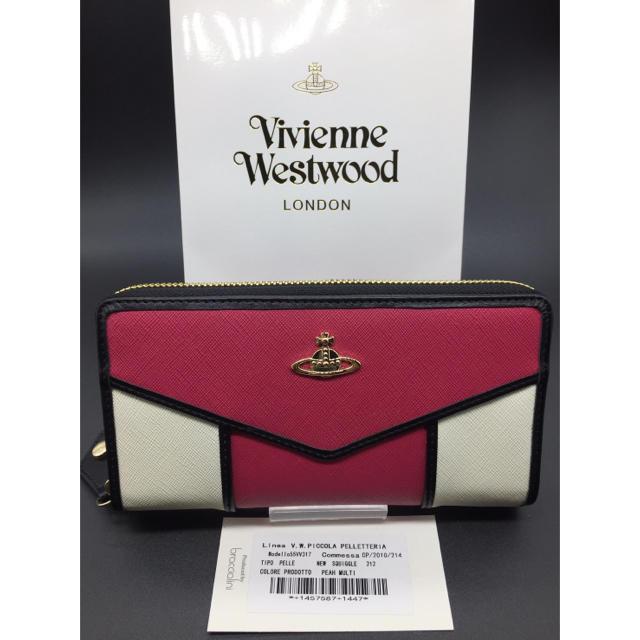 Vivienne Westwood - ヴィヴィアンウエストウッド 長財布 新品 ピンク×ホワイト 特価の通販 by M's shop     |ヴィヴィアンウエストウッドならラクマ