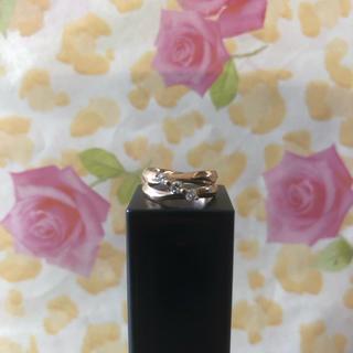 ジュエリーツツミ(JEWELRY TSUTSUMI)のk18♡ピンキーリング♡1号♡3粒ダイヤ♡0.14カラット♡18金♡ゴールド指輪(リング(指輪))