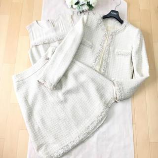 フォクシー(FOXEY)の【美品】定価30万円 FOXEY フォクシー セットアップ ツイード スーツ(スーツ)