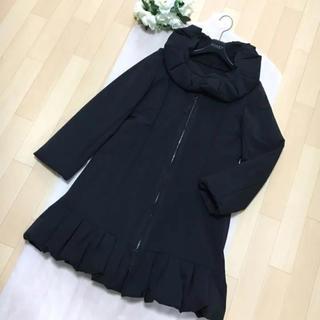 フォクシー(FOXEY)の【美品】定価12万円 FOXEY フォクシー 中綿 取り外せる襟 コート 42(ロングコート)