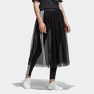 アディダス(adidas)のアディダスオリジナルス 19SS  SST チュール スカート 黒m(ロングスカート)