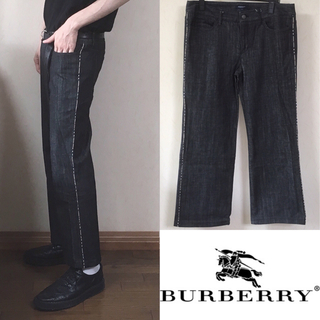 バーバリー(BURBERRY)のBurberry London デニム パンツ サイドライン ノバチェック(デニム/ジーンズ)